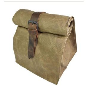 leather canvas insulated lunch bag breast milk bag